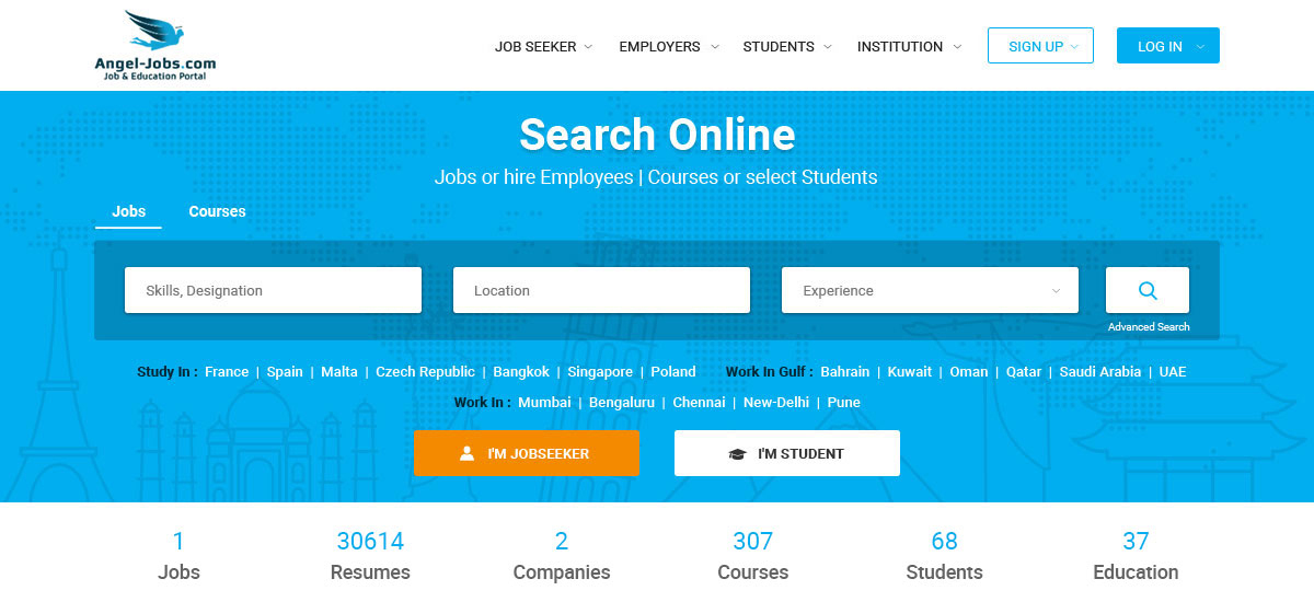 Why do we use online job and education portals?